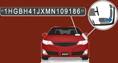 محل قرار گیری شماره شناسایی خودرو (VIN)