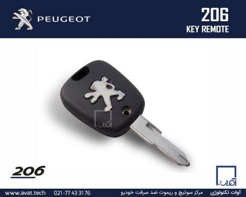 ساخت پروگرام کپی کدهی سوئیچ ریموت پژو 206 Peugeot 206 Key Remote 2 Button 433MHZ